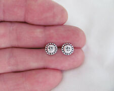 Sterling Silver 8mm Sun Face Hypo-Allergenic Post stud earrings.