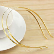 New 2Pcs 5mm Blank Headbands Metal Hair Band  DIY Accessories Craft