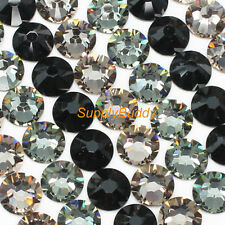 Swarovski Flatback Crystal ss12 Mix Color Jet Black Diamond Gregie Nail Art