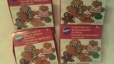 WILTON'S  GINGER BREAD COOKIE CUTTERS 4 BOXES WITH 4 IN EACH BOX,  4 SIZES
