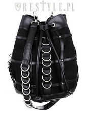 Restyle Cage Sack Bag Goth Punk Emo Rocker D-rings Cross Body Purse Handbag