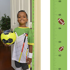 Removable Football Growth Chart - Track & Measure Height (Fits in Door Jamb)
