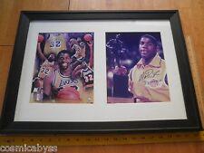 """Magic Johnson 16x24"""" framed signed photo w/signing ticket 2004 autographed ORIGI"""