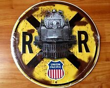 Union Pacific 4002 Engine Railroad Train Crossing Round Sign-Licensed USA Made