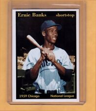 1959 Ernie Banks MVP Chicago Cubs shortstop Hall Of Famer Superior Card Co.