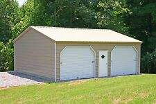 20 x 26 x 10 Metal Building Delivered and Installed - Perfect Two Car garage!