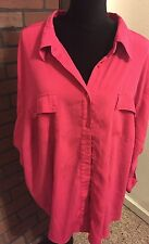 "4x 5x 6x 32w Plus Maggie Barnes  64"" Bust 32"" long  Shirt Top Blouse Catherines"