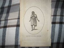 ANTIQUE 1792 NATIVE INDIAN BRITISH COLUMBIA CANADA FASHION COPPERPLATE PRINT NR
