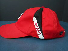 Miami University ball cap style hat Champion  Hook and loop closure Oxford