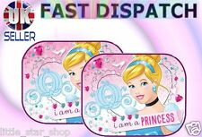 2x Disney PRINCESS Kids Baby Children Girl Car Window Sun Shades 44x35cm