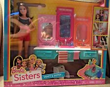 BARBIE SISTERS VASNITY & SKIPPER W/ ACCESSORIES BGX44 *NEW*