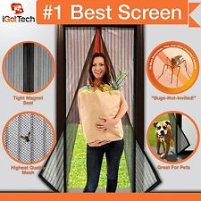 "Magnetic Screen Door Full Frame. Fits Door Openings up to 34""x82"" MAX (NEW)"