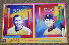 PETER MAX  ALEX RODRIGUEZ  500th HOME RUN  2007  BASEBALL SPORTS   NEW  PROMO