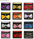 Carlo Bruno Silky Satin Bow Tie, Hankie and Cufflinks presented in the box