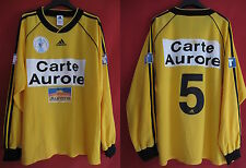 Maillot porté Coupe de France Adidas Carte Aurore Jaune n° 5 Match Worn - XL