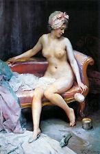 Raimundo de Madrazo y Garreta After Bath Nude  Wall Art  Canvas
