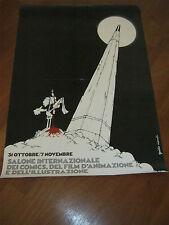 MANIFESTO SALONE DEL COMICS FILM ANIMAZIONE,ILLUSTRAZIONE LUCCA GUIDO MANULI