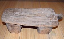 Antique African Tribal Lobi People Carved Wood Woman's Stool Burkina Faso Africa