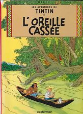 TINTIN       L'OREILLE    CASSEE         HERGE        CASTERMAN    édition  1983