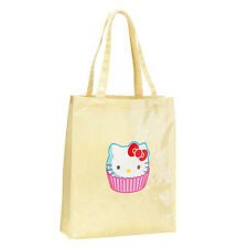 Avon Hello Kitty Cupcake Shopper Tote Bag / / Limón Y Blanco A Lunares (RRP £ 15)