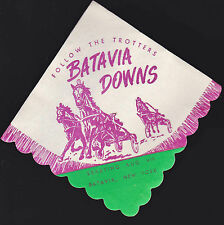 Batavia Downs vintage napkin (Upstate New York)