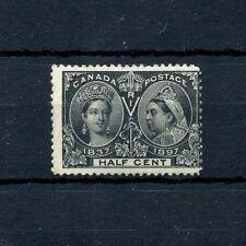 Half Cent Jubilee 1897 #50 Fine MHH Cat $80 Canada mint