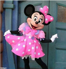 New Pink Minnie Mouse Mascot Costume Adult Sz Fancy Dress Halloween