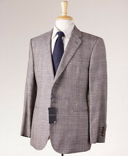 NWT $2495 ARMANI BLACK LABEL Gray Check Wool-Silk-Linen Sport Coat Slim 46 S