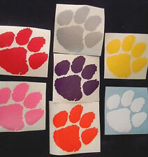 CAT PAW VINYL WINDOW DECAL STICKER COLORS CHOICE tiger wildcat lion YETI tumbler