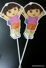 Dora the Explorer TOPPERS x12 Party Supplies Favors Treats Bags Decoration Diego