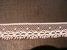 """FRENCH COTTON LACE TRIM-1/2""""- HEIRLOOM SEWING -DOLLHOUSE MINIATURE-WHITE VL1047"""