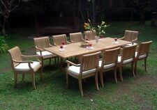 9 PC TEAK DINING SET GARDEN OUTDOOR PATIO FURNITURE POOL D6 GIVA ARM DECK DINING