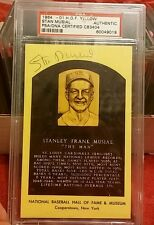 RARE! GreenInk Stan Musial Cardinals authentic vintage signed yellow HOF PSA dec
