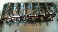 Set of 6 Vintage Tele Bridge Saddles for Fender Telecaster in Chrome