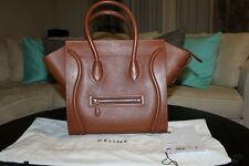 Celine Mini Luggage Caramel Brown Baby Grained Calfskin Tote Handbag Bag