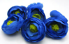 5X Navy Blue Artificial flowers Silk Camellia Wedding Decoration Dia 5cm