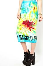 THE RAGGED PRIEST TOPSHOP STEVIE TIE DYE MIDI BODYCON SKIRT S/M 6 8 10 £40!