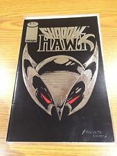 SHADOW HAWK #1 Valentino Liefeld  (Image Comics) * 1992 Embossed Silver Cover