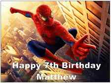 "Spiderman Personalised A4 Cake Topper  Edible Wafer Paper 7.5"" By 10"""