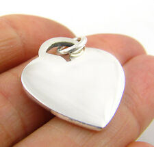 Love Heart 925 Sterling Silver Tag Drop Pendant