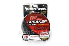 Rockford Fosgate RFWP12-15 12 AWG 15 ft Speaker Wires Subwoofer True Gauge Cable