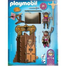 PLAYMOBIL 4774 * CITADELLE CHEVALIERS BARBARES TRANSPORTABLE + NOTICE * COMPLET