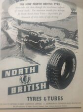 ephemera Picture 1949 Advert North British Tyres And Tubes Safe Driving