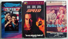 LOT OF 3 VHS, 1984-1994 & 1996, TOP GUN, SPEED AND HELLO DOLLY (1969), ENGLISH