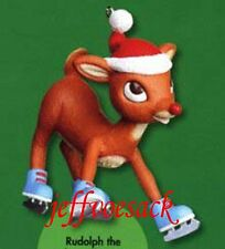 "Rudolph the Red Nosed Reindeer ""Ice Skating""  American Greetings Ornament"