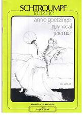 """REVUE B.D. """"SCHTROUMPF FANZINE no 19"""" GOETZINGER - G. VIDAL - JEREMIE (1979)"""