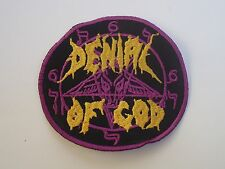 DENIAL OF GOD BLACK METAL EMBROIDERED ROUND PATCH