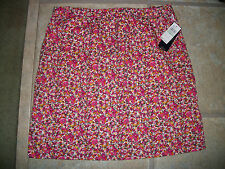 (NWT) Bass Ladies Size 6 Bright Pink Floral Cotton Casual Skirt Retails @$58.00