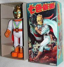 "NANA IRO KAMEN 7-COLOR MASK BILLIKEN 9""TIN WINDUP NEWinBOX JAPAN SUPERHERO ROBOT"
