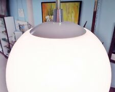Mid Century Globe Pendant Light Vintage Opal Glass Chrome Kitchen 1970 Retro